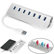 USB 3.0 HUB 7 Port Powered High Speed Splitter Extender For PC Laptop Mac