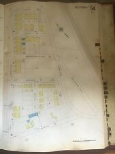 1928 BOSTON ROXBURY ROSLINDALE  MA HYDE PARK AVENUE APARTMENTS SANBORN MAP PLAT