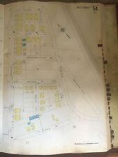 1928 BOSTON ROXBURY ROSLINDALE  MA HYDE PARK AVENUE APARTMENTS SANBORN MAP PLAT