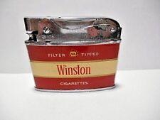 VINTAGE ZENITH WINSTON ADVERTISING CIGARETTE LIGHTER  (SPARKS, TESTED) COMPLETE