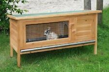 Conigliera pollaio gabbia per lepri ,polli ,roditori con recinto L 116 cm