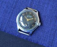 Rare USSR Watch WOSTOK VOSTOK black dial Soviet Vintage Collectible Serviced
