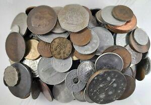 Job Lot Bulk British & World / Foreign Coins, GB mainly pre-decimal; Over 1.5kg