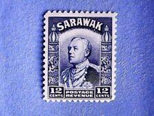 Sarawak. KGV 1934 12c Blue. SG114. No Wmk. P12. MH.