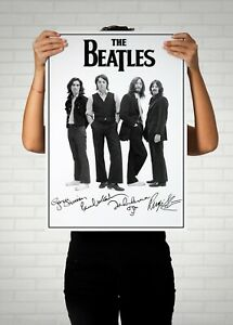 The Beatles Autographed Poster Print. Great Memorabilia Poster