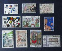 sellos España Lote de 10 Stamp variados, usados