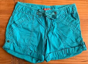 UnionBay Women's Junior's Size 5 Teal Chino Low/Mid Rise Shorts EUC