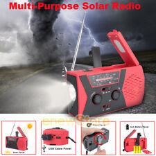 Emergency Radio Dynamo Survival Solar Hand Crank Self Powered AM/FM/NOAA Weather