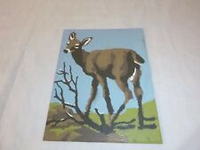 Vtg Paint By Number Deer Doe Craft Master 1969