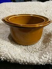 New listing Replacement Crock Pot Glazed Stoneware Brown Rival J 130 905