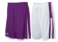 Under Armour mens Undeniable reversible  Basketball Shorts  Purple / White xl