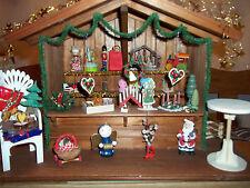 Marktstand Weihnachten 1:12 Kaufladen Weihnachtsmarktbude gefüllt