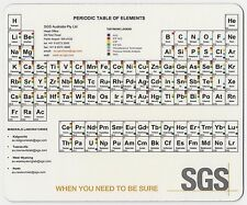 COMPUTER MOUSE PAD - (SGS PROMOTIONAL - PERIODIC TABLE) - BRAND NEW