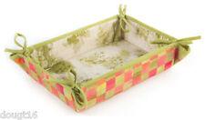MacKenzie-Childs Tulip Check Napkin Basket - Guest