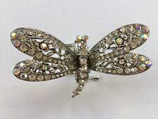 Dragonfly Glass Rhinestone Hair Claw Clip Metal Large Ponytail Bridal AB Clear