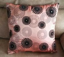 Throw Pillow Cover Boat RETRO Pattern  15x15 Pink & Black Circles Pillow Cover