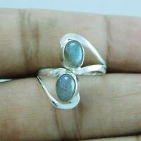 Exclusive 925 Sterling Silver Labradorite Adjustable Toe Ring SZ-6 btr-341