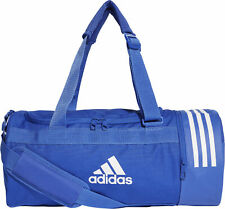 adidas Convertible 3 Stripe Small Holdall Blue