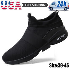 Men's Athletic Slip On Sneakers Casual Jogging Walking Outdoor Running Shoes Gym
