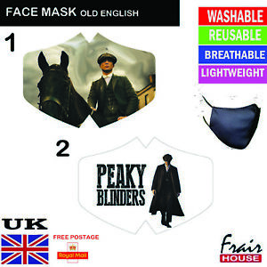 Peaky Blinders Face Mask Virus UK Washable Reusable Mouth Cover Non Medical