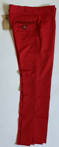 """iliac Golf Men's Red Pants Waist 30"""" Outseam 37"""" JIN SKINNY Made in the USA New"""