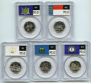 2001 S Clad State Quarter Set PCGS PR69DCAM