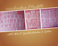 5 cm Schablonen Ziffern klein Groß Buchstaben Stencil Zahlenschablone Alphabet