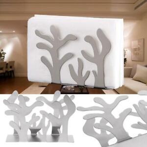Stainless Steel Napkin Rack Box Dispenser Tissue Holder Plants Table Decoration