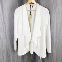 *BNWT* BILLIE & BLOSSOM Ivory Floral Embossed SIZE 12 UK Long Sleeve Open Jacket