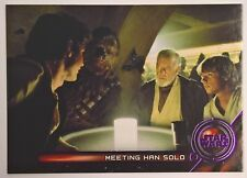 2018 Star Wars Galactic Files Purple Moments Insert Meeting Han Solo GM-2 28/99
