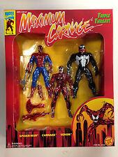 "Caja de 3 figuras ""Maximum Carnage"" Spider-Man(1994)/Spider-Man 3 figure box set"