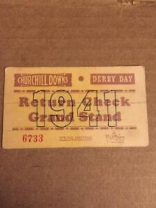 1941 KENTUCKY DERBY DAY TICKET PASS WHIRLAWAY TRIPLE CROWN WINNER EDDIE ARCARO