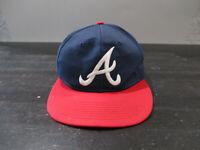 VINTAGE Atlanta Braves Hat Cap Snap Back Blue Red MLB Baseball Mens 90s B44
