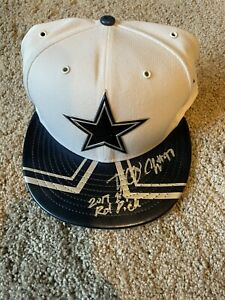 Dallas Cowboys New Era 2017 NFL Draft Hat Cap Taco Charlton Signed Autograph JSA