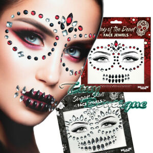 Halloween Face Jewels Stick On Self Adhesive Diamonds Party Gems by Moon Terror