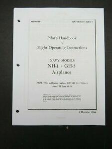 1944 USN Howard NH-1 GH-3 Pilot's Aircraft Flight Operating Manual