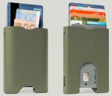 Walter Wallet Aluminium With RFID Shield Olive Green * BRAND NEW BOXED *