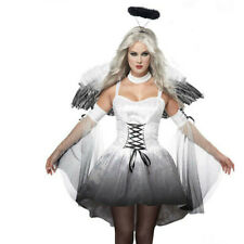 Women Halloween Cosplay Costumes Dress With Wing Party Sexy Festival Mini Dress