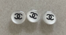 """Chanel Vintage 12mm Pearl White Shank Buttons 3pc Set 1/2"""""""