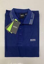 Para Hombre Hugo Boss Athleisure Fit Polo mangas Camisas Pantalones Cortos Azul Tamaño Grande