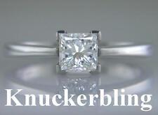 Princess Solitaire Very Good Cut VS2 Fine Diamond Rings