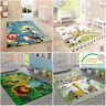 Kids Jungle Rug Baby Nursery Childrens Animal Carpet Playroom Childs Bedroom Mat