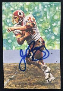 John Riggins Signed GLAC Goal Line Art Card Football Autograph Redskins HOF JSA