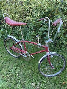1969 schwinn stingray fastback 3 speed stick shift muscle bike banana seat