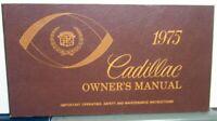 1975 Cadillac Calais DeVille Eldorado 60S 75 Owners Operator Manual