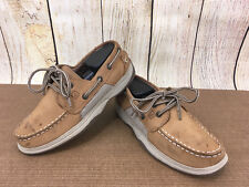 Sperry Boys 5 Shoes Brown Leather Top Siders Lace Up 2M Intrepid Youth    G31(10