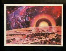 Space postcard Russian Concept Art Artist Sokolov 1978 chrome Smog Planet