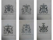 1700's Coat of Arms Arthur Collins Peerage of England 1 of 48 Family Crest Page