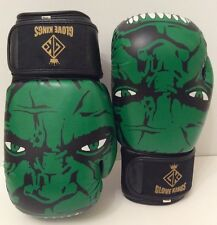 GK Kids Boxing Gloves Incredible Hulk UFC K1 Thai 6oz Top Quality Leather