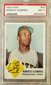 1963 Fleer Baseball ROBERTO CLEMENTE #56 /PSA 7 NM